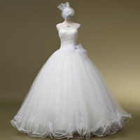 2014 Rushed Time-limited None Romantic Vestido De Noiva Vintage Sexy Slit Neckline Straps The Bride Wedding Dress Gown_bridalk