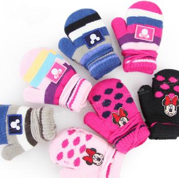 2014 new children s gloves coral fleece autumn winter keep warm boy