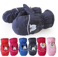 2014 new Children's gloves Mittens Ski gloves Coral fleece Autumn Winter Keep warm Boy Girl Baby Cartoon Fashion dtst006
