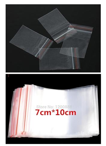 "100Pcs 7x10cm(2.8""X4"") Clear Self Sealing Zip Lock Plastic Bags Packaging Bags 4Z270(China (Mainland))"