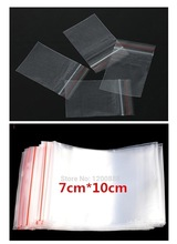 "100Pcs 7x10cm(2.8""X4"") Clear Self Sealing Zip Lock Plastic Bags Packaging Bags 4Z270(China (Mainland))"