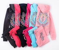 Women's Brand Velvet Tracksuits lady's Velour Suits casual clothes set gril dress Sport tracksuits Hoodies & Pants S--XL 2171