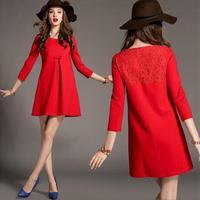 Women's 2014 british style elegant loose wool coat outerwear 208