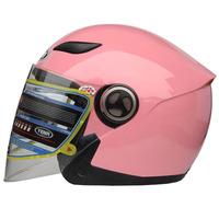 YEMA/wild motorcycle 619 electric car half helmet Men's women's cycling helmet qiu dong