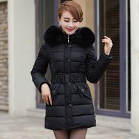 Free shipping Women's designer winter jacket down padded lady  long coats cotton Korean female outerwear dress cheap clearance