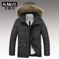 Men's Winter Jacket Coat Big Size Down Jacket Fur Collar Business 2014 Hot Sale New