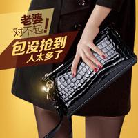 Xia Mo 2014 new handbag stone grain leather crocodile pattern patent leather clutch handbag shoulder clutch bag c12