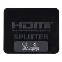 Aoluguya 2014 Upgraded Version Mini Full 3D 1080P HDMI 1.3 1X2 HDMI Splitter with CEC Blue Ray Free Shipping