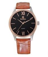 3 bestdon genuine leather  Waterproof business man watches wristwatch quartz watches New Luxury Watch Men free shipping