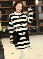 The new explosion models 2014 spring grain long sweater cardigan sweater coat Korean Shopping