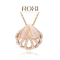 ROXI delicate rose-gold new arrival peacock's tail necklaces,fashion jewelrys for women,factory price,Christmas gifts