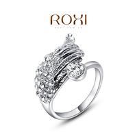 ROXI Austrian Crystal Silver -plated Imitation Diamond Ring,Fashion 18k Gold Wings Wedding Rings For Women 2014