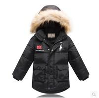 2014 Winter New Children Down & Parkas Coat  Korean Fashion Boys Slim Down Coat Thicken Warm Hooded Fur Collar Down Jacket Coat