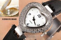 Women Fashion Rhinestone Wristwatch Quartz PU Heart Design Popular Watches On Sale XWT053