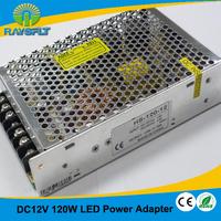 AC100~130V 200V~240V Swtiching power adapter for led string strip dc 12v 10a 120w led power supply
