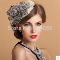 several Colors Womens Lady Vintage Fascinator Wool Hair Pillbox linen Hat Bowknot Veil Felt Cocktail Party Wedding Socialite