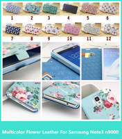 New Style Luxury  multicolor flower candy Print  TPU Leather Cover case For Samsung Galaxy Note3 n9000 With Retail packaging