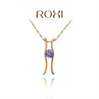 2014 ROXI brands  fashion  necklace/Chrismas gifts,purple H Austrian crystal,fashion Environmental  women Jewelry