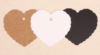 Free Shipping (200pcs/lot) kraft 6*5.5CM Mini  Hearts Pieces. Ideal Art Craft Card Making Wedding Favor.white/black/kraft
