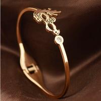 5.8cm Luxury Brand mask with rhinestone titanium men's vintage jewelry european charm bracelets BR185