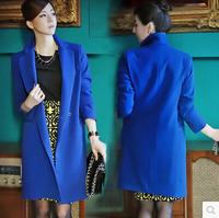 2014 New Elegant Slim Brief Solid Women Trench High Street Gorgeous Temperament Ladies Autumn Coat Trendy OL Work Blazer Wear