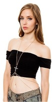 Order $16  automatically free shipping  ,Sexy Cross Pendant Fine Chains Body Chain