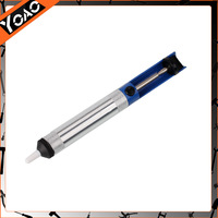 New High Temperature Resistant Desoldering Pump Sucker Solder Irons Removal Remover Tool Blue Silver  23000625