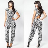 2014 New Arrival Summer Women Fashion Voguish Girl Jasmine Sexy Jumpsuit LC6294