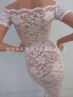 New Arrival Evening Celebrity Dress New 2014 Women Summer Black Long Maxi High Low Dress Irregular Asymetrical Lace Long Dress
