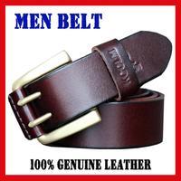 Men's Belts Pure copper Needle Buckle Men leather belt Fashion belt for men Guaranteed 100% Genuine leather