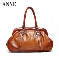 Anne bags leather shell bag Korean version of casual shoulder diagonal handbag cowhide