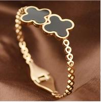 5.8cm Luxury Brand clover titanium men's vintage jewelry european charm bracelet Jewelry BR188