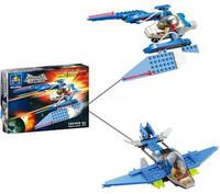 Free Shipping 129pcs/box Chinese Original Brand Plastic DIY Educational Assembly Star Plane Brick Blocks Toy 6065 For Kids