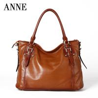 Anne ANNE female header layer leather handbag shoulder bag Korean version of casual soft leather bag ladies bag