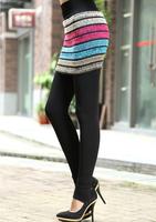 2014 New Warm Winter Plus Thick Velvet Culottes Slim Leggings Stretch Pencil Pants Trousers