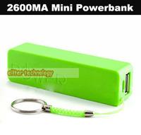 Wholesale 2600mah Perfume Power Bank External Battery Pack Powerbank Portable Charger 100PCS/lot
