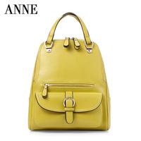 Korean fashion handbags casual leather shoulder bag vertical section Threepio America wax shoulder bag A4371