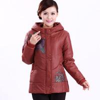 Free shipping Long mother cotton padded jacket coat in elderly winter clothing new padded girls aged female coat keep warm coats