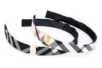 24 pcs wholesale free shipping Boutique Korean fabric Lattice hairbands plaid headbands tartan hair accessories