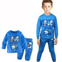 Children Clothing Sets Boys Long Sleeve Pajama Sets Toddler Baby Pajama Sleepwear Suit Cartoon Housecoat 1-7Y