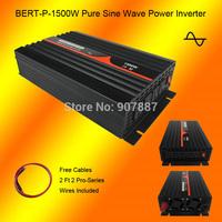 Full Power 1500W/3000W 12V/24VDC to 120VAC 60HZ Pure Sine Wave Solar Power Inverter for USA Type Plug