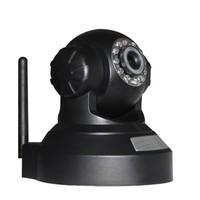Free Shipping 0.3MP  Family WIFI IP camera Pan/Tilt IR Robot Camara sd card recording WIFI CAEMRA