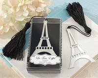 2014 best wedding favor Eiffel tower bookmark with Elegant black tassel wedding party favor gifts guest souvenirs keepsakes