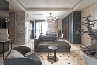 Indoor dining room decoration renderings of modern minimalist interior decoration design TV wall