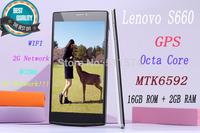 New Lenovo S660C 5.5''inches IPS HD Screen 16GBROM + 2GBRAM Octa-Core MTK6592 3G WCDMA GPS WIFI Bluetooth 1920x1080 Dual Camera