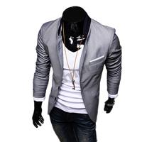 Aumr Men's Jacket Coat Slim Blazers Overcoat Casual Vintage Outerwear Suit