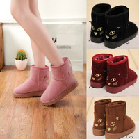 2014New Arrival Women Winter Boots Round Toe Cat Prints 4Color 5Size Casual Snow Boots KJ013