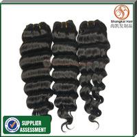 Peruvian Virgin Hair Deep Wave 3pcs Shangkai Hair Human Hair Extensions,Cheap Grade 5A Peruvian Virgin Hair Weaves Bundles