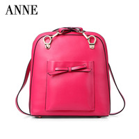 Anne Korea leather fashion handbag for women leather  bag casual bags School