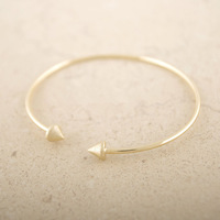 Valentine Day Gift 2015 Fashion jewelry One direction Spike Bracelet Cuff Silver gold double arrow